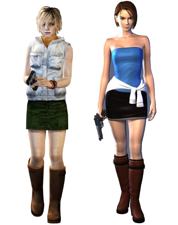 Heather Mason, copyright Konami. Jill Valentine, copyrigth Capcom.