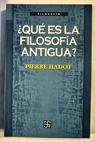 Pierre Hadot libro